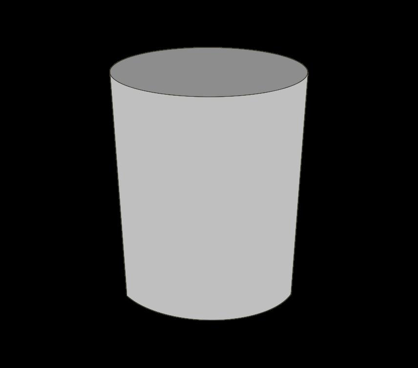 空ゴミ箱(丸型)のイラスト