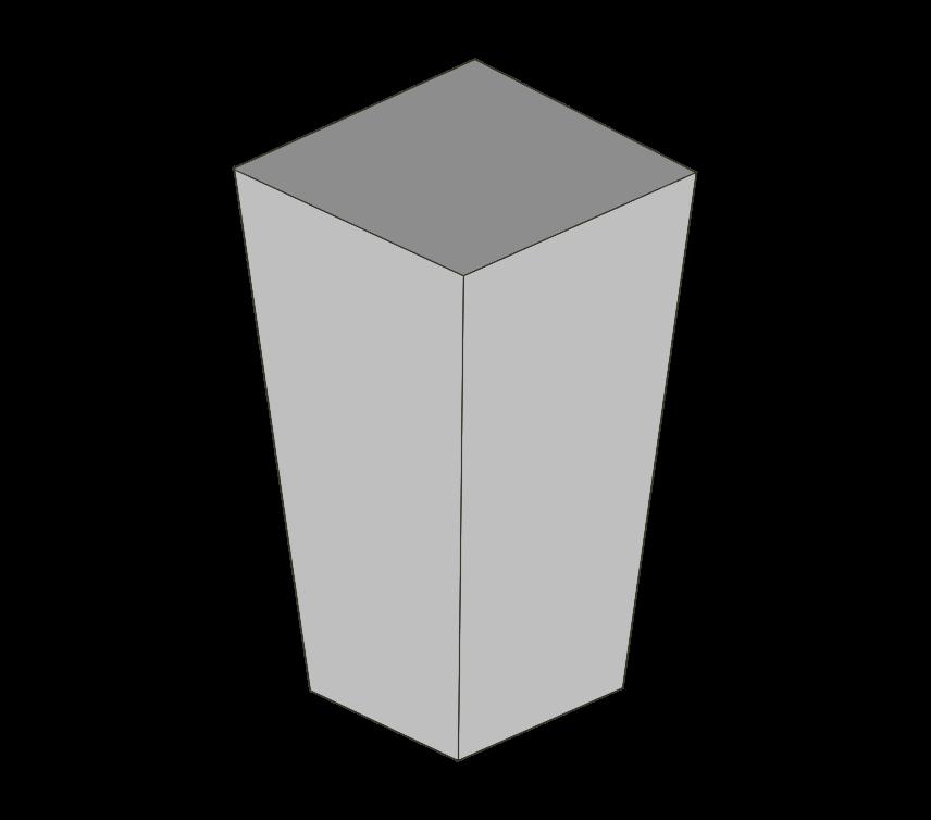 空ゴミ箱(四角)のイラスト