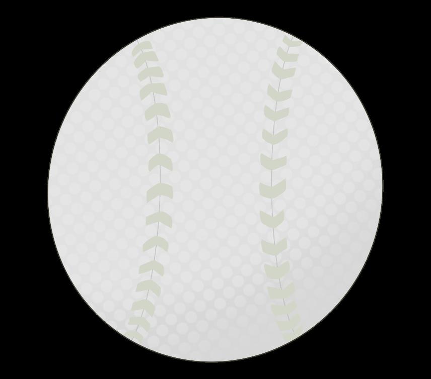 軟式野球ボールのイラスト