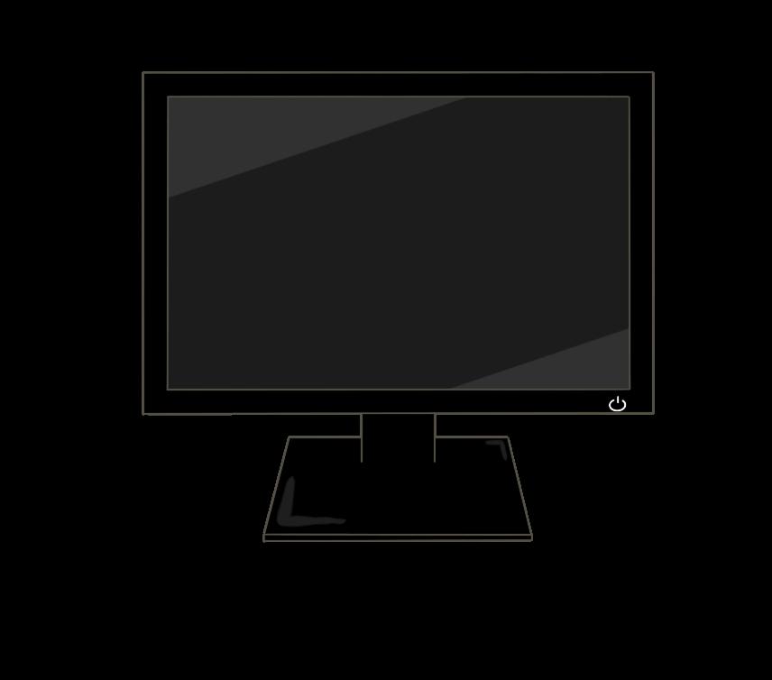 PCモニターのイラスト