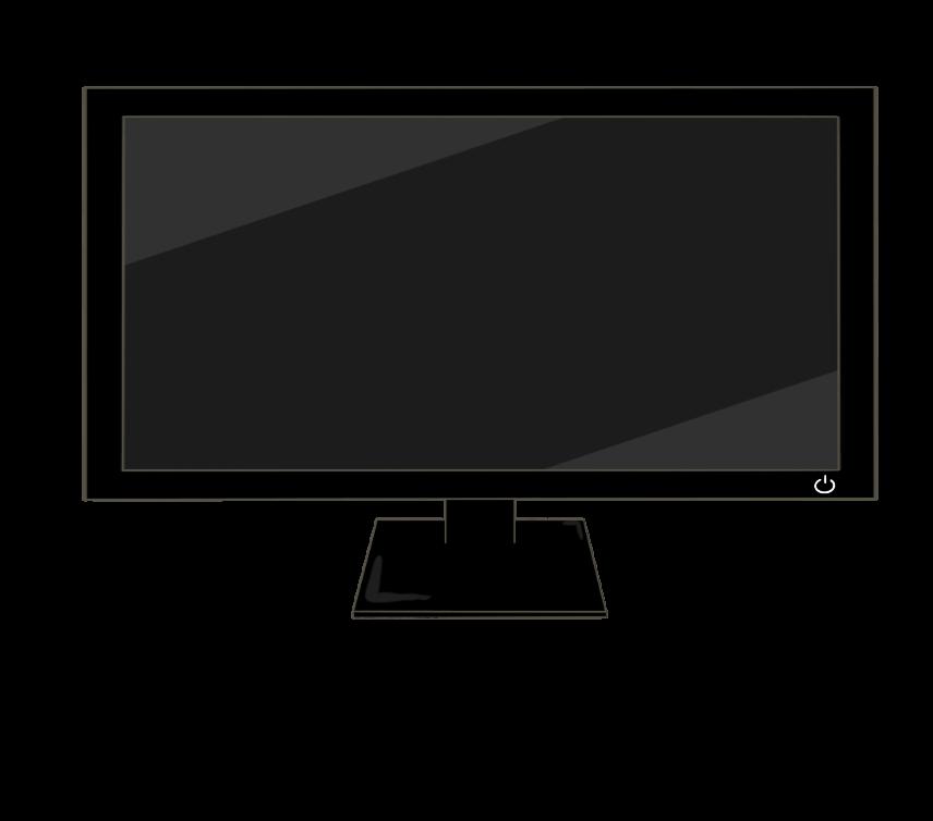 PCモニター(ワイド)のイラスト