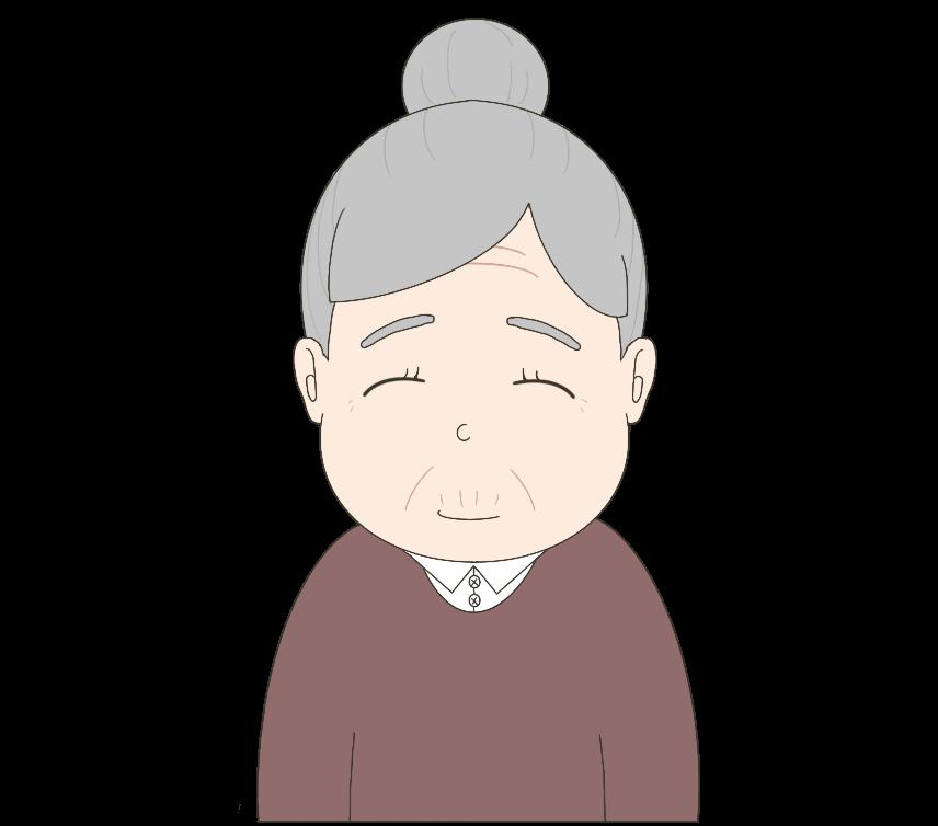 女性(おばあさん)のイラスト