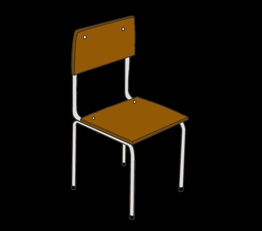 学校の椅子のイラスト