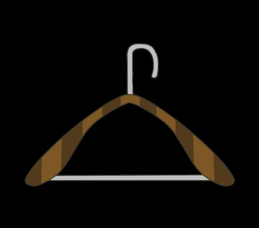 木製ハンガーのイラスト