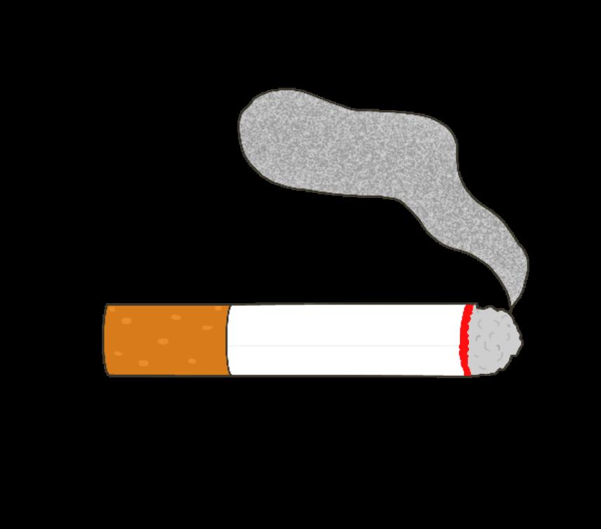 火のついた紙タバコのイラスト