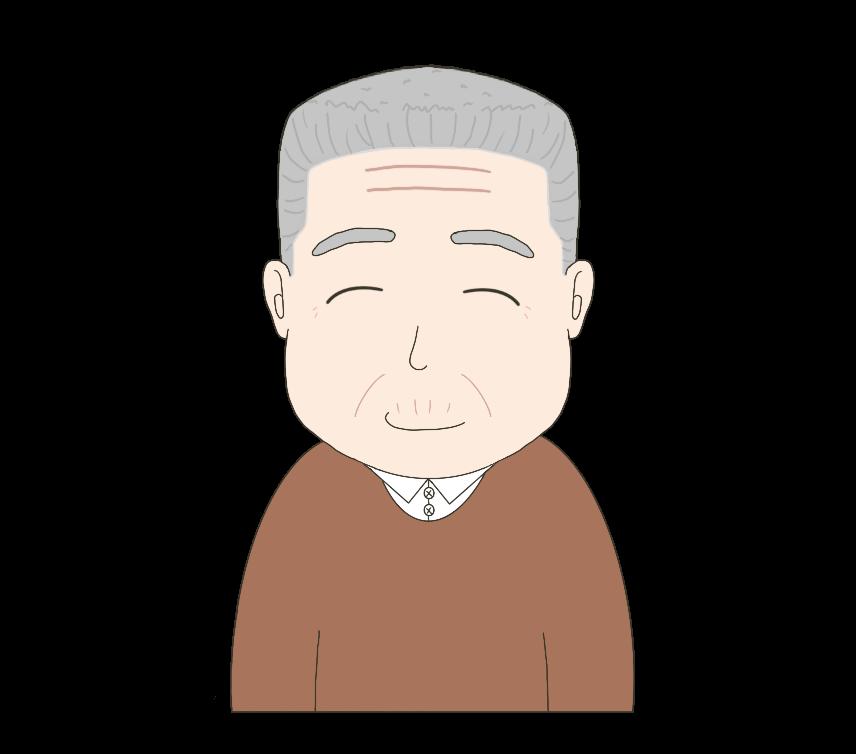 男性(おじいさん)のイラスト