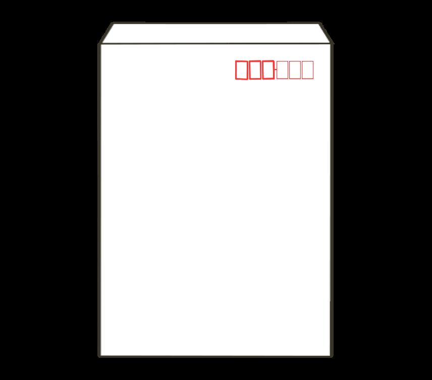 白封筒(角2)のイラスト