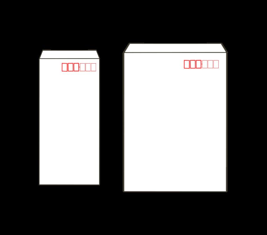 白封筒(長3、角2)のアイキャッチ