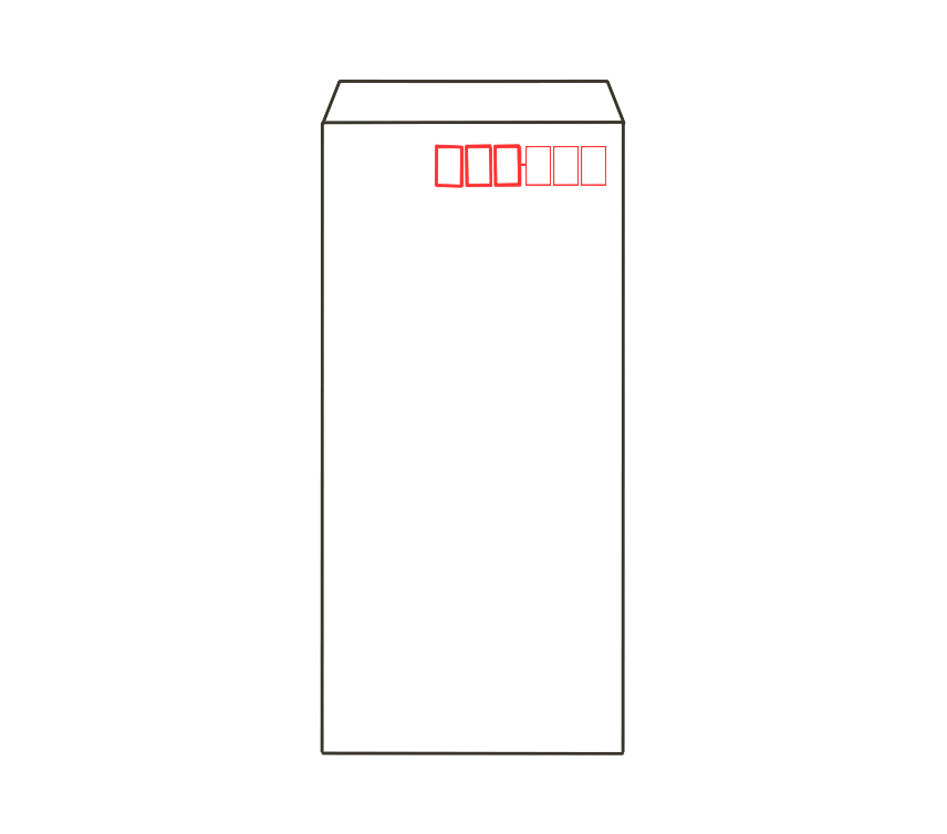 白封筒(長3)のイラスト