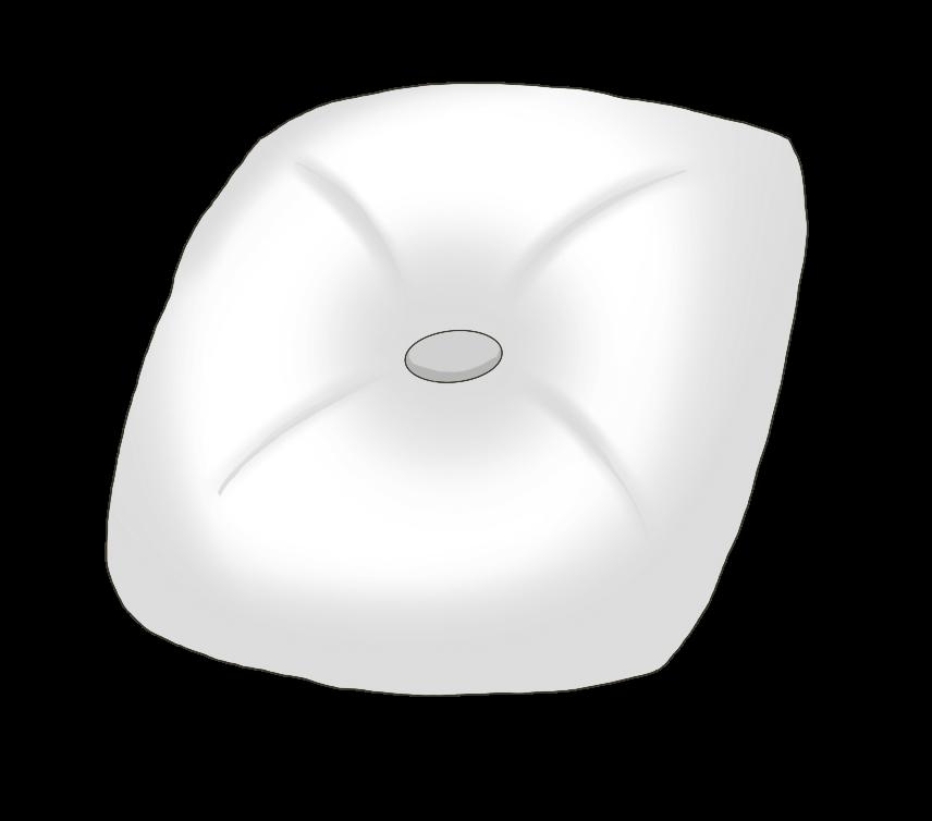 白色のクッションのイラスト