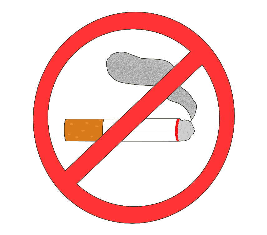 禁煙(紙タバコ)マークのイラスト