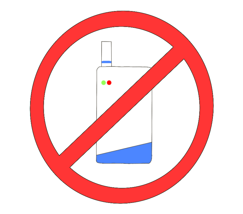禁煙(電子タバコ)のイラスト