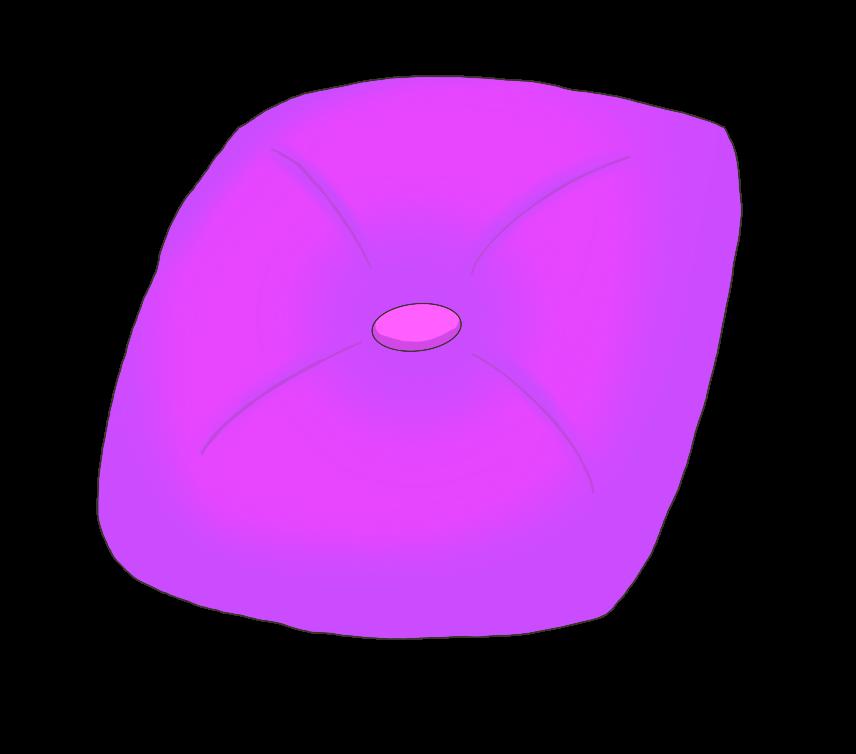 紫色のクッションのイラスト