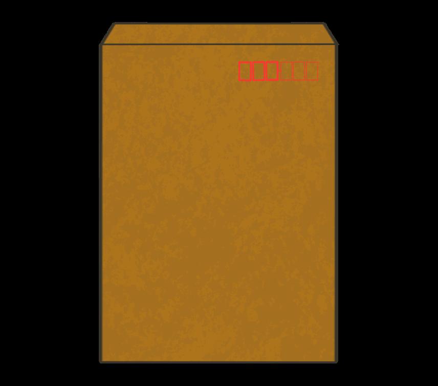 茶封筒(角2)のイラスト