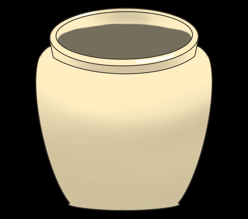 壺(つぼ)のイラスト