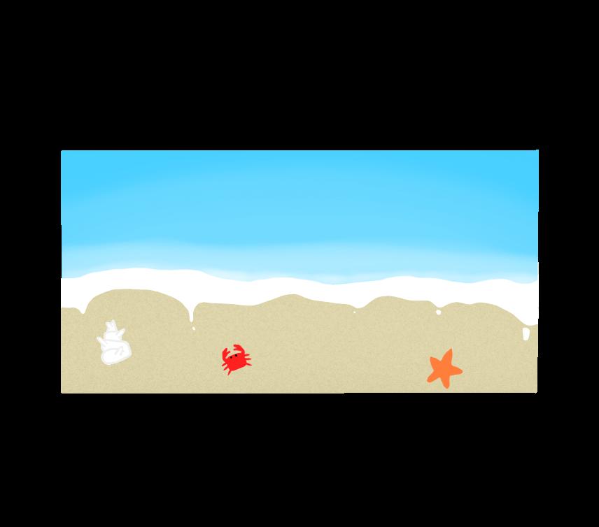 砂浜のイラスト