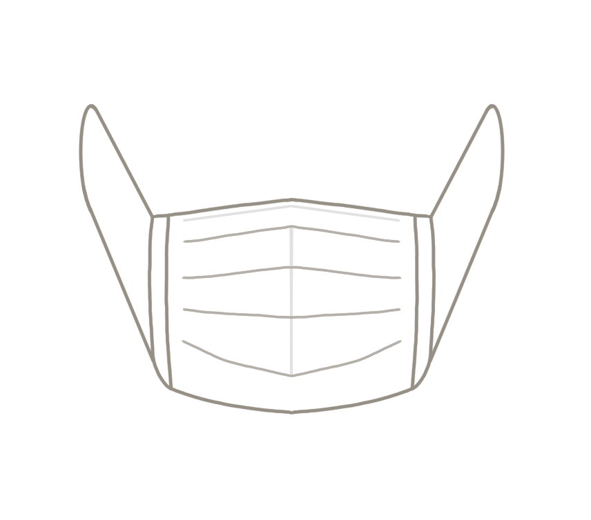 不織布マスクのイラスト
