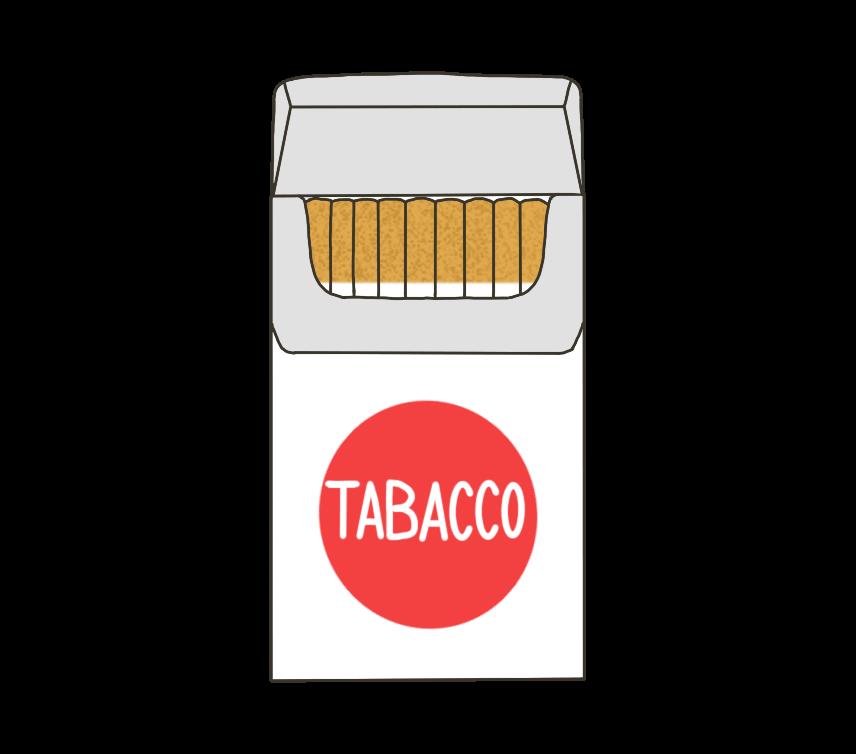 煙草(タバコ)のイラスト