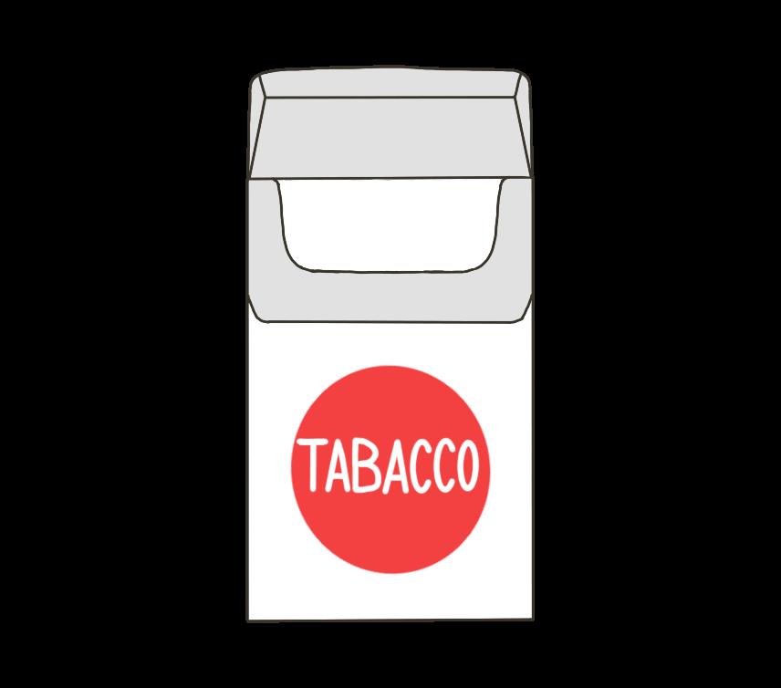 煙草(タバコ)の空箱のイラスト