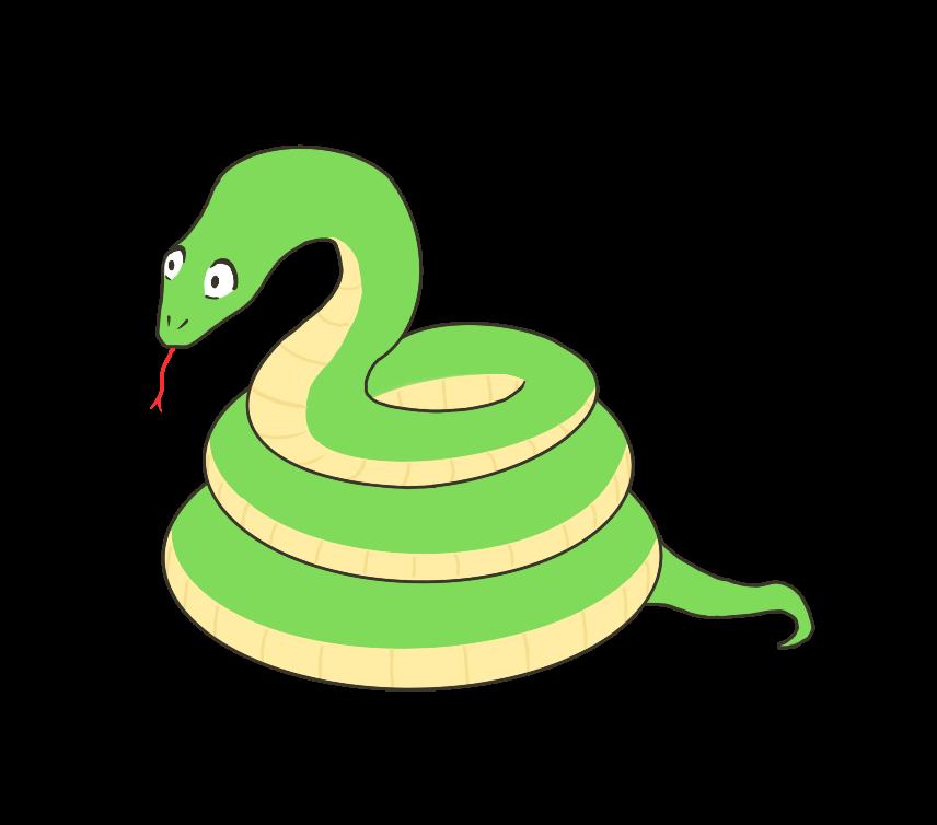 蛇(ヘビ)のイラスト