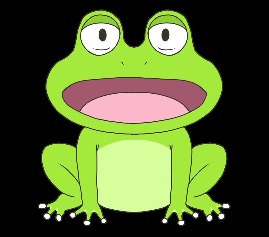 蛙(カエル)のイラスト